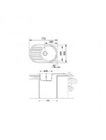 Кухонная мойка Fabiano Arc 77*50