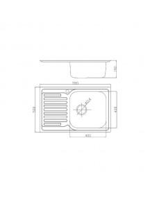 Кухонная мойка Fabiano 780-500 сатин (0,80)