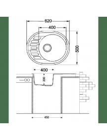 Кухонная мойка Fabiano Arc 62-50 (Beige)