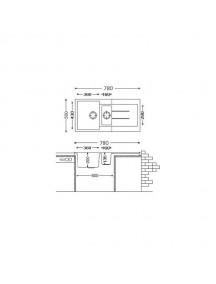 Кухонная мойка Fabiano Classic 78-50-15 Alpine White