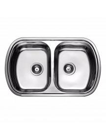 Кухонная мойка Fabiano 800-490 дв. микродек. (0,80)