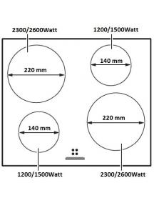 Индукционная поверхность Fabiano FHI 19-44 VTC Lux Gold