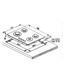 Газовая поверхность Indesit THP 642 IX/I EE