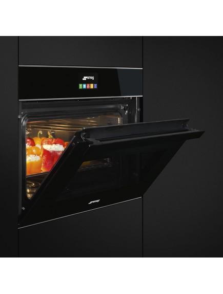 Компактный духовой шкаф с пароваркой Smeg SF4604VCNX