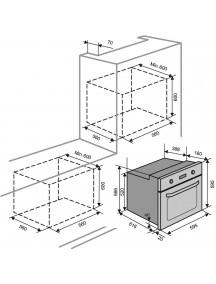 Электрический духовой шкаф Ventolux EO56M-6KWH