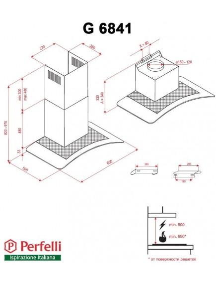 Вытяжка Perfelli G 6841 W