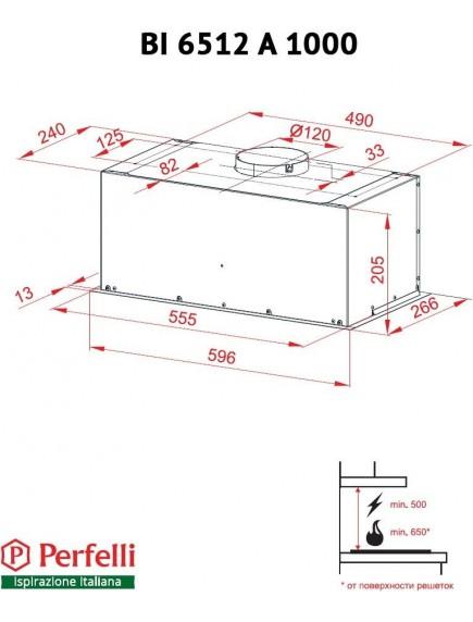 Вытяжка Perfelli BI 6512 A 1000 I LED