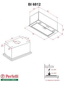 Вытяжка Perfelli BI 6812 I LED