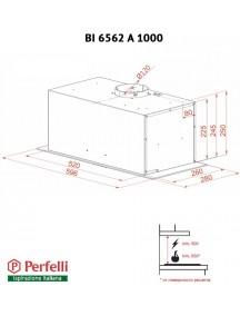 Вытяжка Perfelli BI 6562 A 1000 BL LED GLASS
