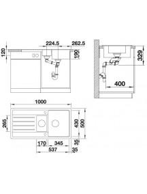 Кухонная мойка Blanco LEGRA 6 S SILGRANIT anthracite 522207