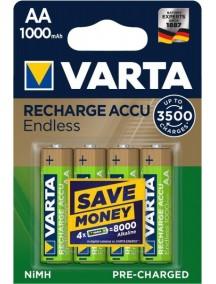 Varta Rechargeable Accu Endless  4xAA 1000 mAh