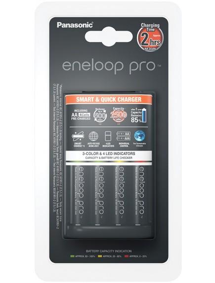 Panasonic Smart-Quick Charger + Eneloop Pro 4xAA 2500 mAh