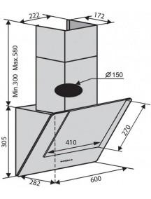 Вытяжка VENTOLUX Diamond 60 WH 700 PB белый