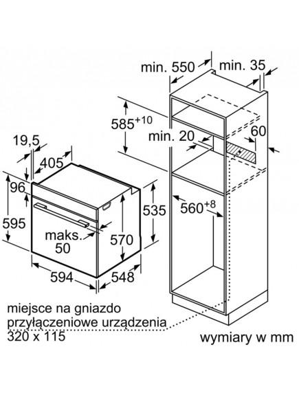 Духовой шкаф Bosch HBA334YB0