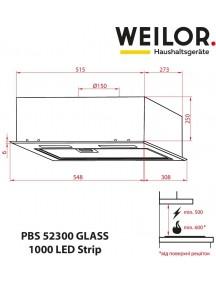 Вытяжка Weilor PBS 52300 GLASS BG 1000 LED Strip