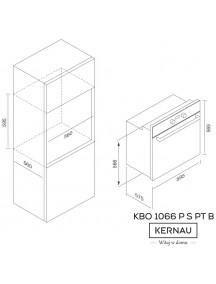 Духовой шкаф Kernau KBO 1066 P S PT B