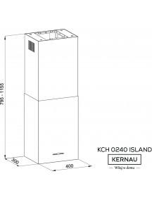 Вытяжка Kernau KCH 0240 W Island