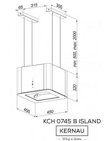 Вытяжка Kernau KCH 0745 B Island
