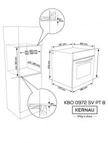 Духовой шкаф Kernau KBO 0972 SV PT B