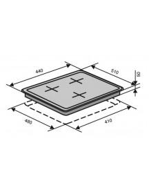 Варочная поверхность VENTOLUX HSF430-P3 CEST (X)