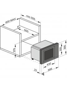 Встраиваемая микроволновая печь Kaiser EM2545AD