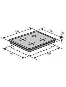 Варочная поверхность VENTOLUX HSF640-R3G CS (BK)