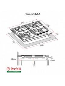 Варочная поверхность Perfelli HGG 61664 BL