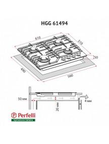 Варочная поверхность Perfelli HGM 61494 BL