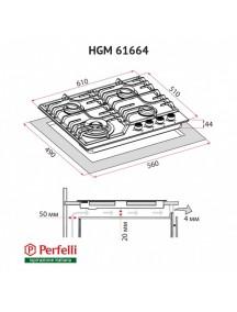 Варочная поверхность Perfelli HGM 61664 BL