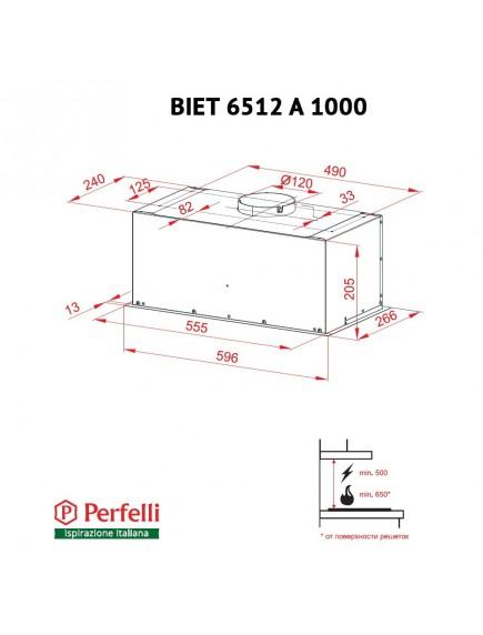 Вытяжка Perfelli BIET 6512 A 1000 I LED