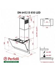Вытяжка Perfelli  DN 6452 D 850 BL LED