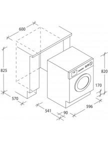 Встраиваемая стиральная машина Candy CBDO485TWME/1-S