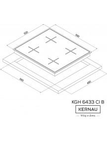 Варочная поверхность Kernau KGH 6433 CI B