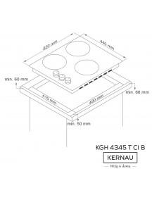 Варочная поверхность Kernau  KGH 4345 T CI B