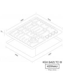 Варочная поверхность Kernau  KGH 6421 TCI B