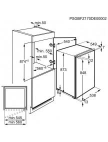Встраиваемая морозильная камера Electrolux LUB3AE88S