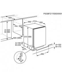 Встраиваемый холодильник Electrolux RSB2AF82S