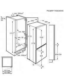 Встраиваемый холодильник Zanussi ZNLR18FT1