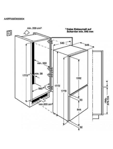 Встраиваемый холодильник AEG SCE818E6TS