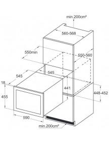 Винный шкаф Amica WCB1K54B24.1