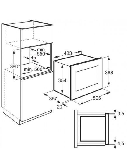 Встраиваемая микроволновая печь Electrolux EMS4253TEX