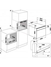 Встраиваемая микроволновая печь Whirlpool W11IME150