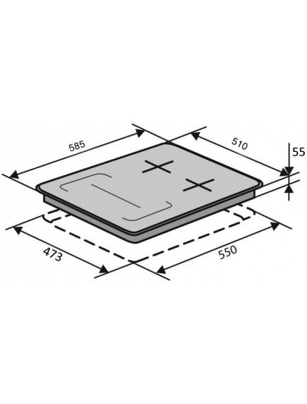 Варочная поверхность VENTOLUX HG622 B9G CS FI (BK)