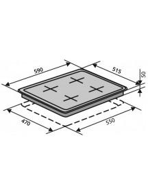 Варочная поверхность VENTOLUX  HSF640-W3G CESBT (BK)