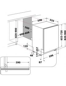 Встраиваемая посудомоечная машина Whirlpool WIC 3C33 PFE