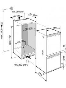 Встраиваемый холодильник Liebherr   ICBd 5122
