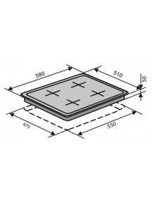 Варочная поверхность VENTOLUX HG640 B2 CS (AN)