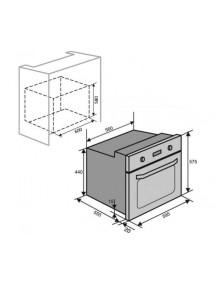 Духовой шкаф VENTOLUX  TOLEDO 6  MT  (BK/X)