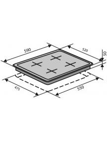 Варочная поверхность VENTOLUX  HSF640-T3G CS (WH)