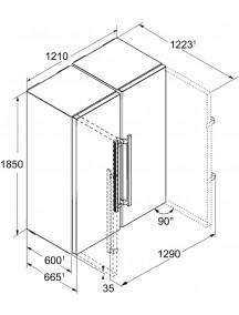 Холодильник  Liebherr  SBSes 8483 (SKes 4370 + SBNes 4285)